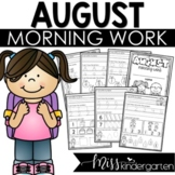 August Morning Work for Kindergarten