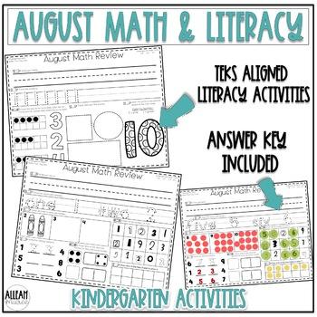 Kindergarten Morning Work Bundle {August ELA & Math}