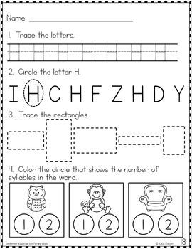 Kindergarten Morning Work BUNDLE!