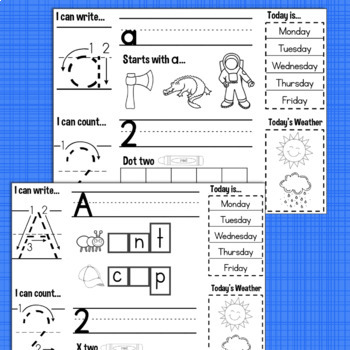 Kindergarten Morning Work BUNDLE Full Year 36 Weeks