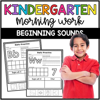Kindergarten Morning Work: Beginning Sounds and Counting ...