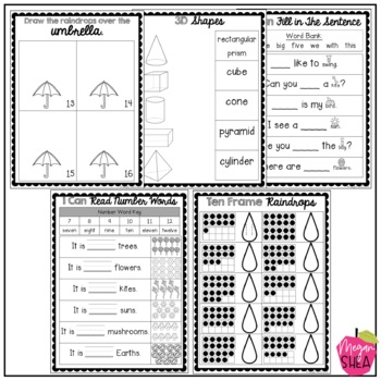 Kindergarten Morning Work Book April