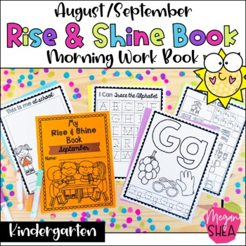 Kindergarten Morning Work Book August/September