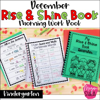 Kindergarten Morning Work Book December