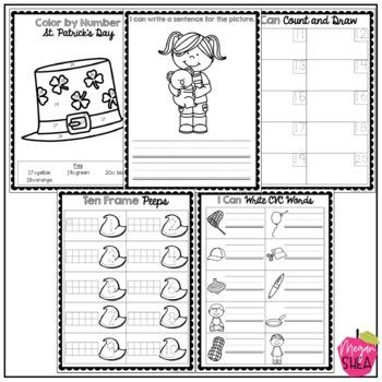 Kindergarten Morning Work Book March
