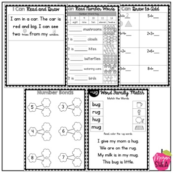 Kindergarten Morning Work Book May