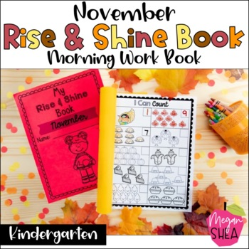 Kindergarten Morning Work Book November