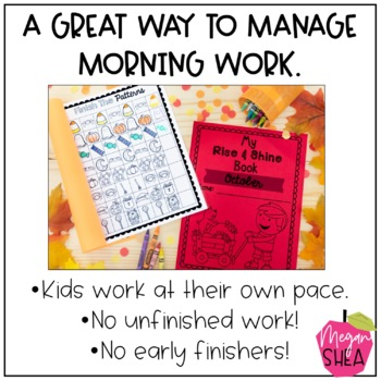 Kindergarten Morning Work Book October
