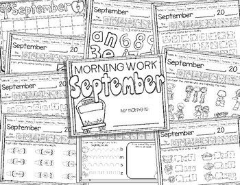 Kindergarten Morning Work Bundle {August-May}