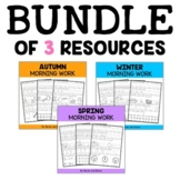 Kindergarten Morning Work - Bundle
