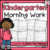 Kindergarten Morning Work - Distance Learning
