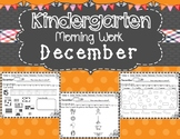 Kindergarten Morning Work (December)