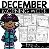 Kindergarten Morning Work {December}