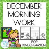 Kindergarten Morning Work- December