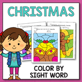 Morning Work December - Christmas Color By Sight Words Pre-Primer