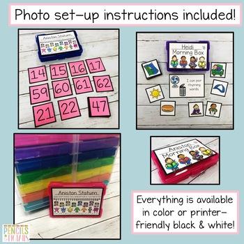 Kindergarten Morning Work - EDITABLE