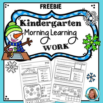 Kindergarten Morning Work - FREE