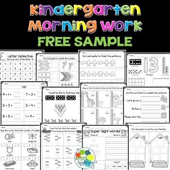 Kindergarten Morning Work FREE SAMPLE