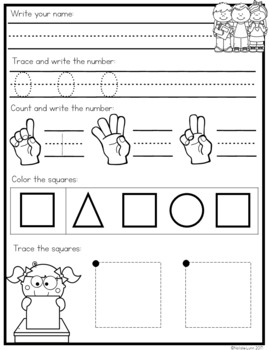 Kindergarten Morning Work FREE Week