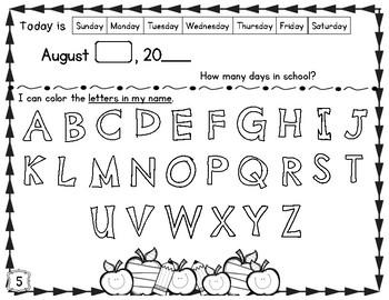 Kindergarten Morning Work FREEBIE!!!