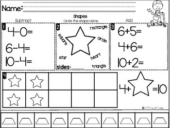 Kindergarten Morning Work-February
