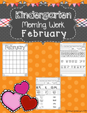 Kindergarten Morning Work (February)