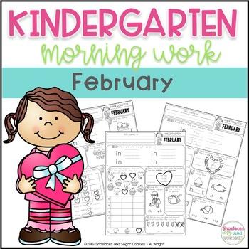 Kindergarten Morning Work - February