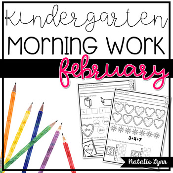 Kindergarten Morning Work - February