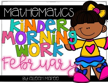 Kindergarten Morning Work {February Math}