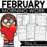 Kindergarten Morning Work February