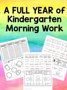 Kindergarten Morning Work - Full Year!