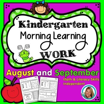 Morning Work Kindergarten - Independent - August & September