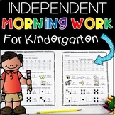 Kindergarten Morning Work (Independent) Set 1