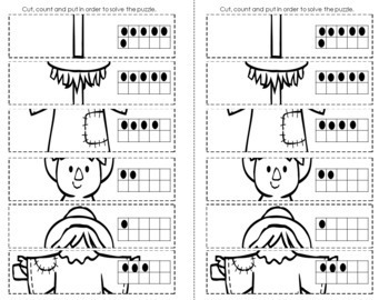 Kindergarten Morning Work - Interactive Notebook October (20 days)