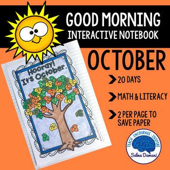 Morning Work - Interactive Notebook October (20 days)