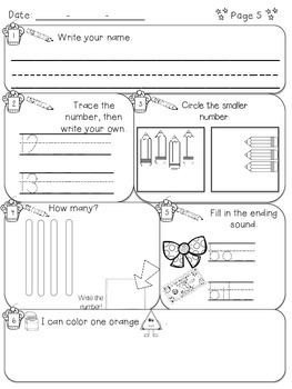 Kindergarten Morning Work - January