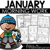 January Morning Work for Kindergarten