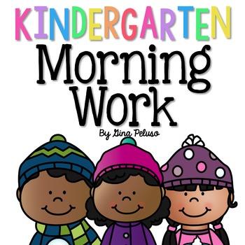 Kindergarten Morning Work: January