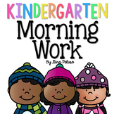Kindergarten Morning Work: January