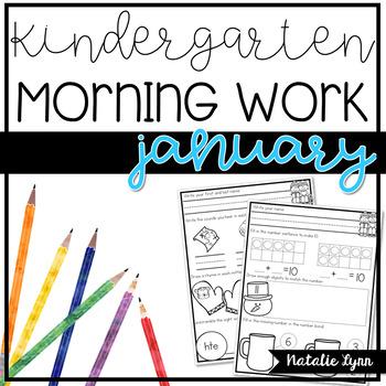 Kindergarten Morning Work - January