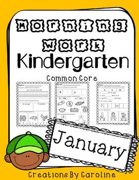 Kindergarten Morning Work. January. Daily Work. Common Core.