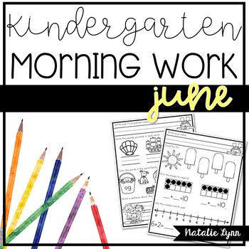 Kindergarten Morning Work - June