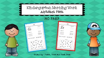 Kindergarten Morning Work- Letters
