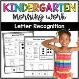 Kindergarten Morning Work: Letters and Numbers