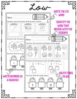 Kindergarten Morning Work: March