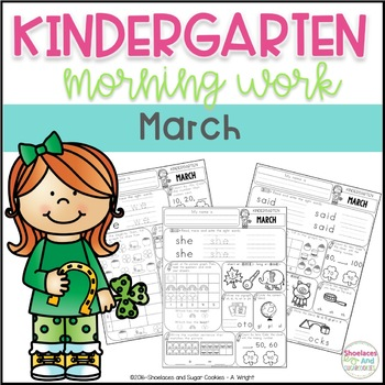 March Morning Work for Kindergarten