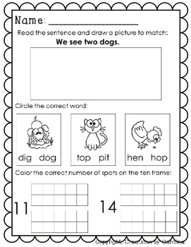 Kindergarten. Morning Work. March. Daily Work. Common Core.