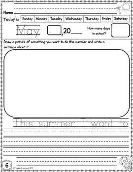 Kindergarten Morning Work (May)