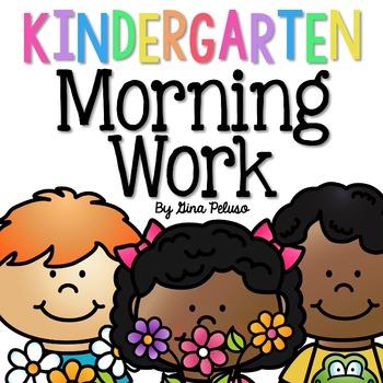 Kindergarten Morning Work: May