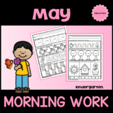 Kindergarten Morning Work (May) Distance Learning